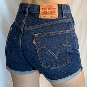 Levi's 505 cut off shorts.